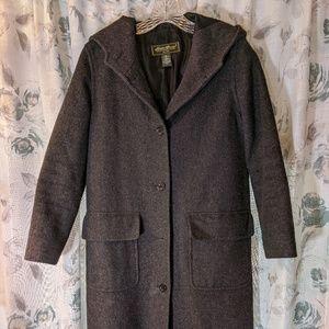 Eddie Bauer Petite XSmall Gray Long Wool Coat